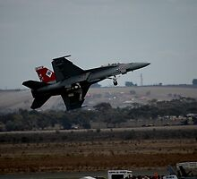 F-18 - Peel-off After Take-off, 2007 by muz2142