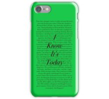 Shrek- I know its today iPhone Case/Skin