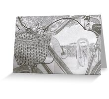 """Basket"" in graphite Greeting Card"