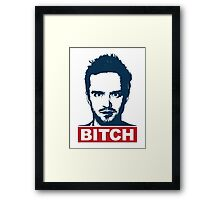 BREAKING BAD JESSE PINKMAN BITCH Framed Print