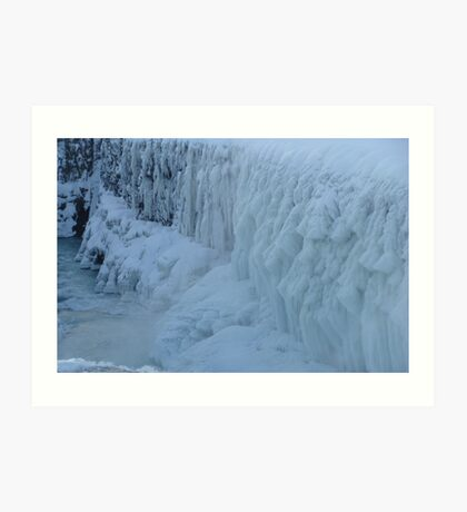 Frozen Waterwall Art Print
