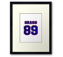 National football player Chris Gragg jersey 89 Framed Print