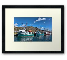 Boats in Harbour, Newfoundland, Canada Framed Print