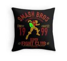 Planet Zebes Fighter Throw Pillow
