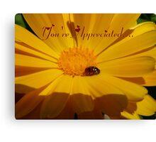 You're Appreciated - Ladybird - NZ Canvas Print
