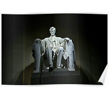 Lincoln In The Memorial Poster
