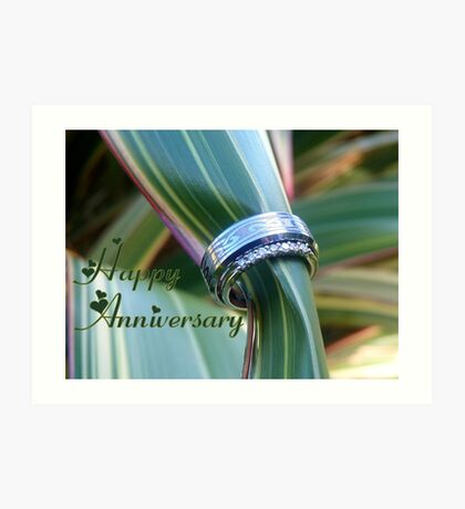 Happy Anniversary - WEDDING - NZ Art Print