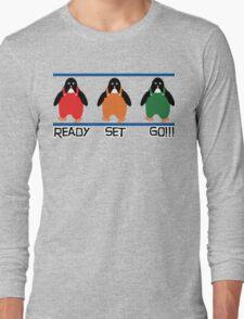 penguin races Long Sleeve T-Shirt