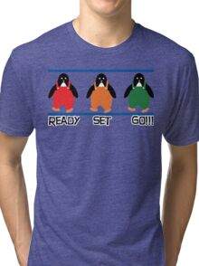 penguin races Tri-blend T-Shirt