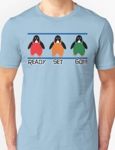 penguin races Unisex T-Shirt
