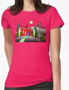 A Night In Tuscany Womens Fitted T-Shirt
