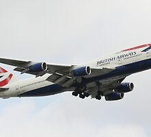 British Airways Boeing 747-400 Landing Configuration by Paul Lindenberg