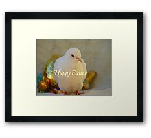 Easter Peace... - Happy Easter Dove - NZ Framed Print
