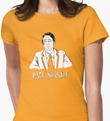 Pace yourself Womens Fitted T-Shirt