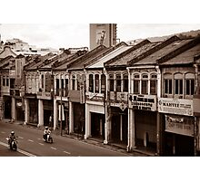 Penang Shop Houses Photographic Print