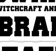 Hogwarts Witchcraft and Wizardry Library Staff Sticker