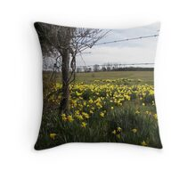daffodill fields forever.. Throw Pillow