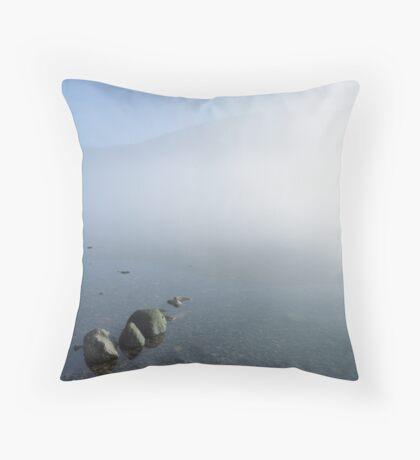 Ennerdale, rising mist. Throw Pillow