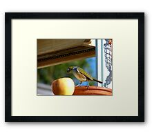 I Wasn't Aware That Apples Came With Worms.. Bonus!! - Silvier-Eye - NZ Framed Print
