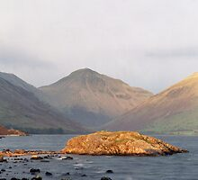 Wast Water, Late Sun by John Kiely