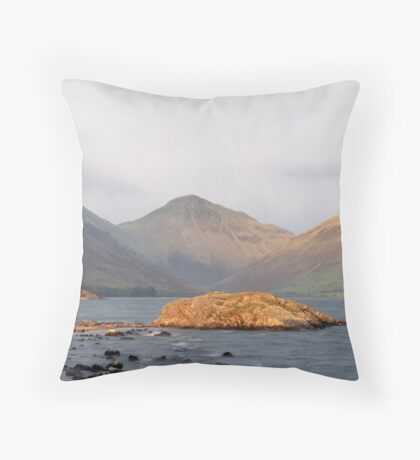 Wast Water, Late Sun Throw Pillow