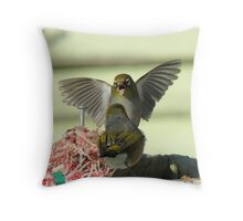 I'm Telling You..That Worm Was At Least This Big!! - Silver-Eyes - NZ Throw Pillow