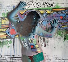 Graffiti Nude in Blue by Harry Neelam