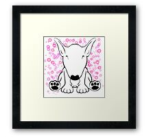 English Bull Terrier Forward Sit Framed Print