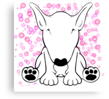 English Bull Terrier Forward Sit Canvas Print