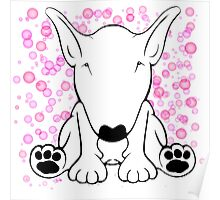 English Bull Terrier Forward Sit Poster
