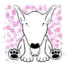 English Bull Terrier Forward Sit by Sookiesooker