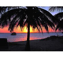 SILHOUETTE SUNSET - Mozambique Photographic Print