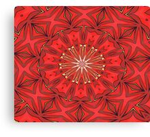 Red Bold Kaleidoscope Pattern Canvas Print