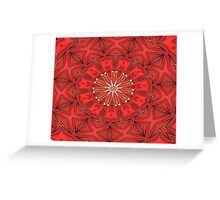 Red Bold Kaleidoscope Pattern Greeting Card