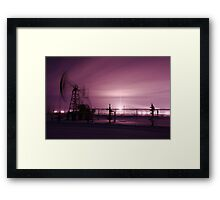 Pump jack and oilwell. Framed Print