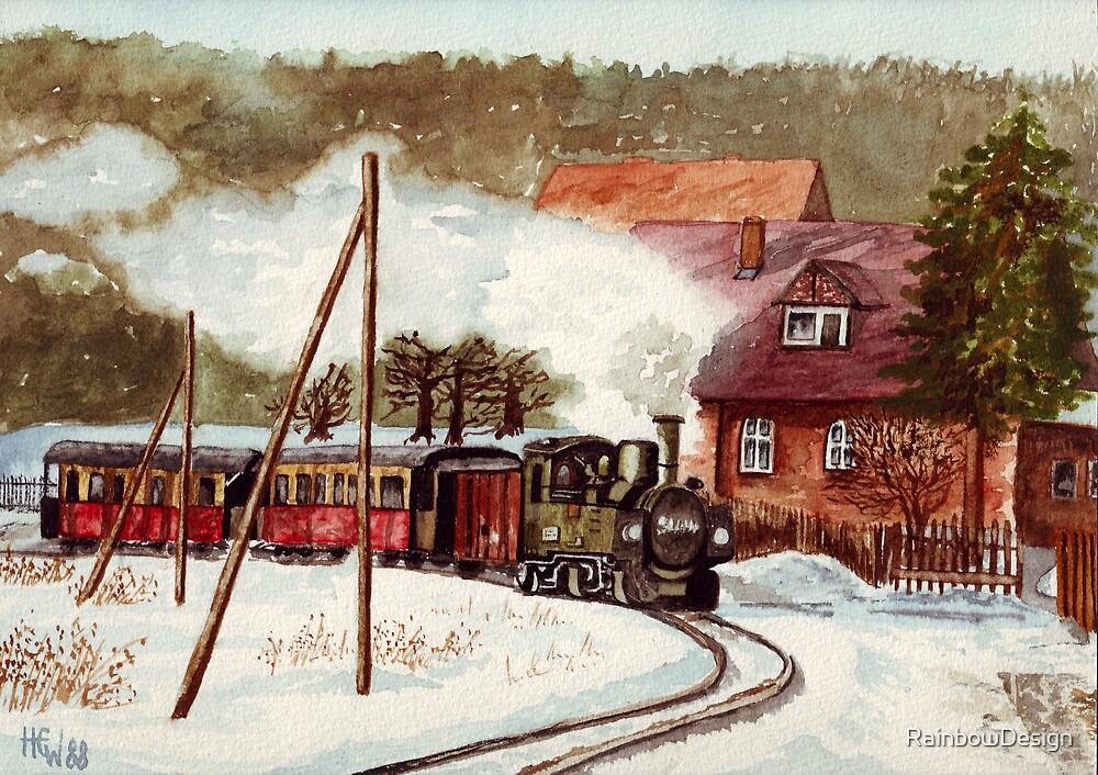 Harz Mountains Narrow Gauge Railway by RainbowDesign