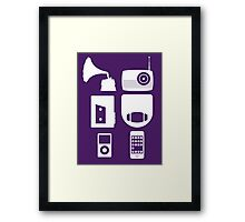 The History Of Portable Music Devices in Six Easy Steps Framed Print