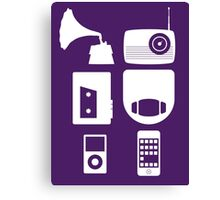 The History Of Portable Music Devices in Six Easy Steps Canvas Print