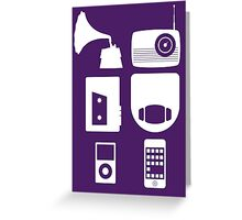 The History Of Portable Music Devices in Six Easy Steps Greeting Card
