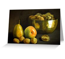 Fruit and Nuts Greeting Card