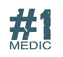 Medic Mug Design (BLU) Photographic Print