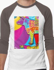 English Cut of Beef in Happy Rainbow Men's Baseball ¾ T-Shirt