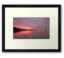 Forth Bridge Sunset Framed Print
