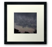 HDR Composite - Rapid Clouds at Day's End Framed Print