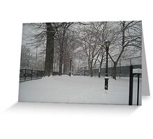 Brooklyn Snowstorm Greeting Card