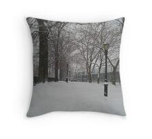 Brooklyn Snowstorm Throw Pillow