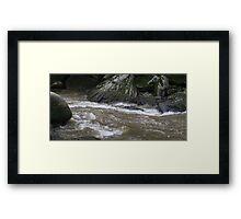HDR Composite - Rapids and Rocks on River Framed Print