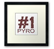 Pyro Mug Design Framed Print