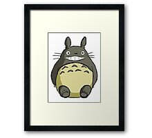 Totoro (shaded) Framed Print