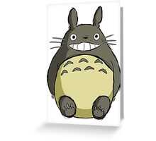 Totoro (shaded) Greeting Card